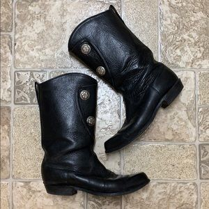Tony Lama boots with silver buttons